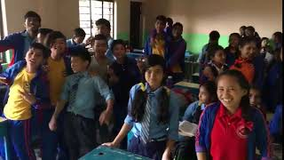 Students With Volunteer Teacher