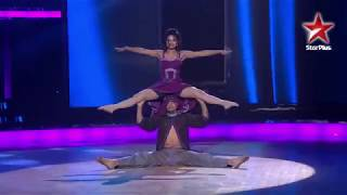 Jaya Biswas and Rakesh Deo in Indias Dancing Superstar