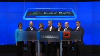 Bank of Marin Rings NASDAQ Closing Bell on August 1, 2012