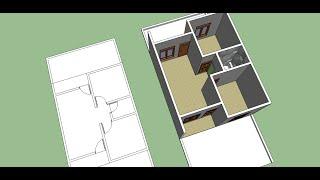 Membuat Denah Rumah sederhana  dengan sketchup part 2