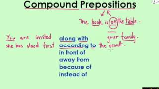 Compound Prepositions (explanation with examples)