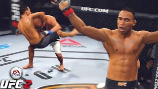 John Dodson Flying Guillotine ! Record Updated In New Division - EA Sports UFC 2 Online Gameplay