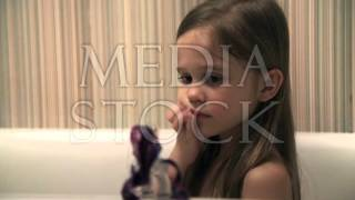 Little girl bathes play in a bath