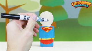 Best Toddler Learning Video for Kids Superhero Coloring with Markers Superman Spider-man Batman Fun!