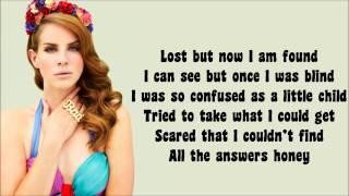 Lana Del Rey - Born to Die Lyrics Video