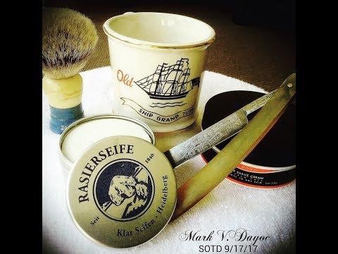 W&B Wedge / Klar Mandel Shave Soap