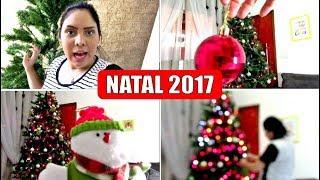 MONTANDO e Decorando ÁRVORE de NATAL desse ANO 2017 HD com Vanessa Vlog