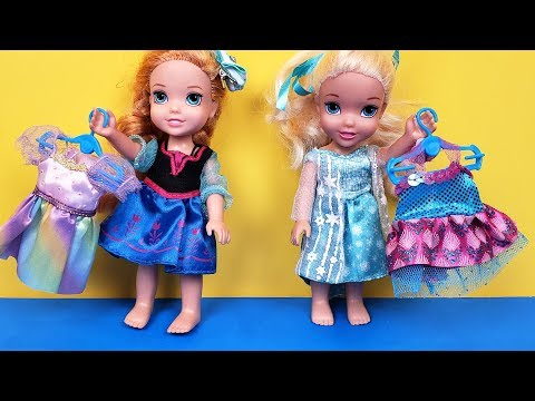 New Dress Elsa & Anna toddlers fabrics store shopping Barbie is the seller