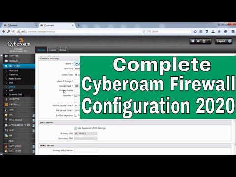 cyberoam firewall configuration step by step | configure cyberoam firewall first time