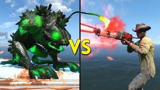 Fallout 4 - 100 FAKE PRESTONS vs 5 ANGLERS - Battles #62