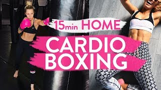 15min CARDIO BOXING WORKOUT   At Home Fat Burning Blaster!!