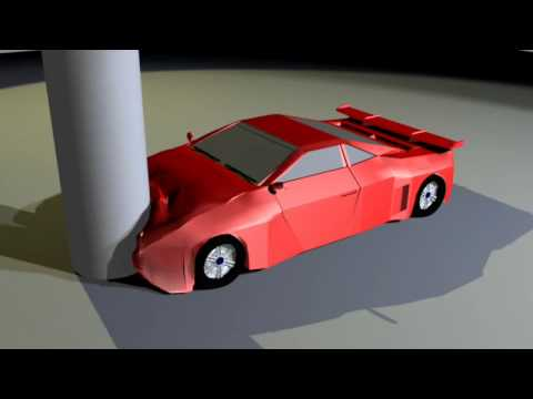Blender 3D Project Animation Tests Car Collision Test One