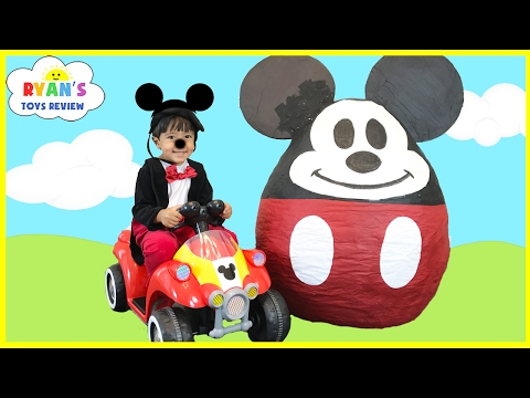 Mickey Mouse Clubhouse Giant Egg Surprise Opening Disney
