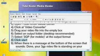 How to convert any video file to a 3GP media file