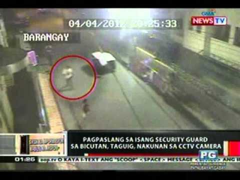 OC Pagpaslang sa security guard sa Bicutan Taguig nakunan sa CCTV camera