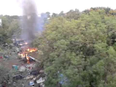Gas cylinder explosion at Santragachi....23.04.14