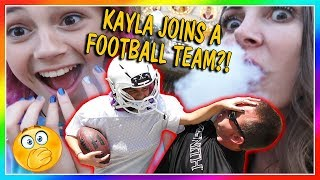 DOES KAYLA JOIN A FOOTBALL TEAM?   WE GOT DRAGON BREATH!  We Are The Davises