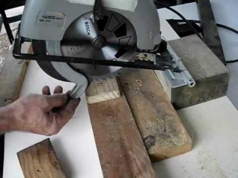 Cómo hacer una ingletadora casera con una sierra circular portátil 1
