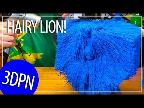 Xxx Mp4 3D Printing The Worlds Largest Hairy Lion On The GMax 3D Printer Using MakeShaper PLA 3gp Sex
