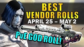 Destiny: PvE GOD ROLL SCOUT RIFLE! | BEST VENDOR ROLLS! (April 25th - May 2nd) Age of Triumph