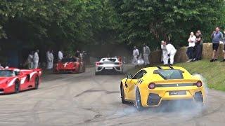 Ferrari F12 TDF goes completely crazy!!