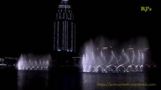 DUBAI FOUNTAIN at Dubai Mall
