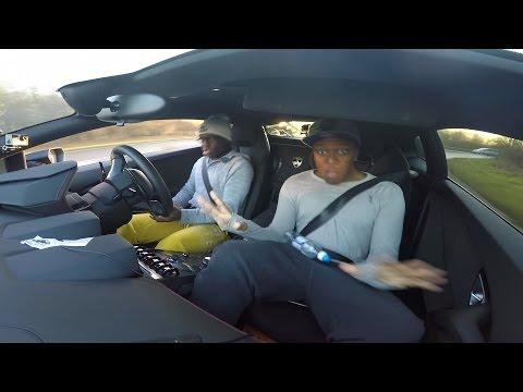 DRIVING MY BRO IN MY LAMBORGHINI