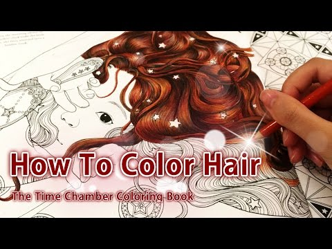 How to color hair | Adult coloring book: The time chamber by Daria Song