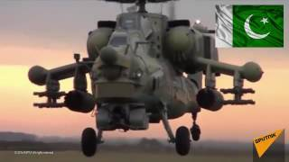 Brand New Russian MI 35 Helicopters finally arrived 2016 - Pakistan Russia relations at its best