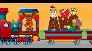 ABC Alphabet Train song - 2D Animation ABC Train Songs for children 2018[Nursery Rhymes] 4k