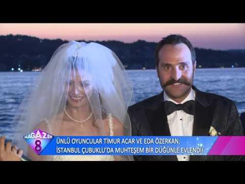 Ünlü Oyuncular Timur Acar Ve Eda Özerkan'ın İstanbul'daki Muhteşem Düğününden Çok Özel  Görüntüler
