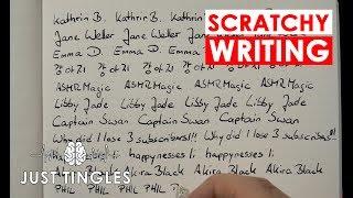 ASMR   Scratchy Writing With A Fountain Pen   NO TALKING