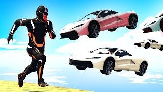 HIT THE RUNNER WITH 100 CARS! (GTA 5 Funny Moments)