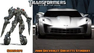 Transformers 3 Characters in Real Life Cars