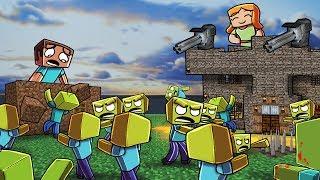 Minecraft | ZOMBIE BASE CHALLENGE - Zombie Horde Attacks! (Noob vs Pro)