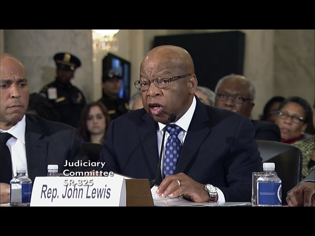Rep. John Lewis Testifies on the Nomination of Senator Sessions to be Attorney General