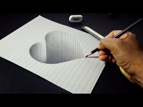 Xxx Mp4 How To Draw A 3D Hole Heart Shape Easy 3D Drawings For Kids 3gp Sex