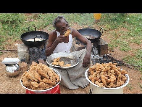 KFC Chicken 100 Legs 100 Wings Prepared by my DADDY Village food factory
