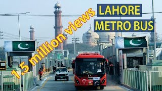 Trip on Lahore Metro Bus - Interviews - Beautiful view of the city (4K - Ultra HD)