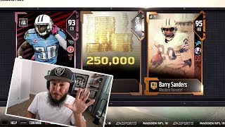 LIMITED EDITION PULL!! 95 OVERALL BARRY SANDERS | MADDEN 18 PACK OPENING!!