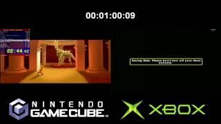 Curious George Loading Time Comparison (Full Run) GameCube VS Xbox