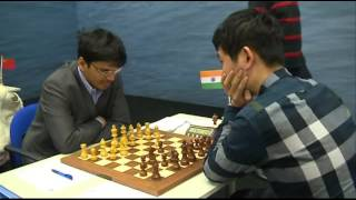 Anand  Carlsen Hou Yifan and Van Wely win in the 12th Round of Tata Steel Chess.mp4