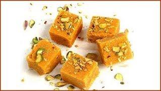 Mohanthal Recipe By Sanjeev Kapoor   मोहनथाल बर्फी   Gujarati Mohan Thal   Mohanthal Recipe In Hindi