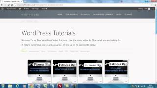 Wordpress Video Tutorial Page Launch