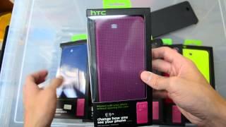 Dot View Premium Cover Case For HTC One E9+ Plus