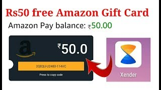 Amazon Loot Offer On Xender App Get free Rs50 Gift Voucher free.