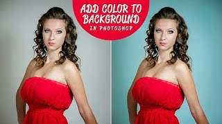 How to Add Colored Background to Portraits in Photoshop & Lightroom