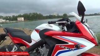 Honda CBR 650F - Fun Ride + Street Test + Exhaust Sound