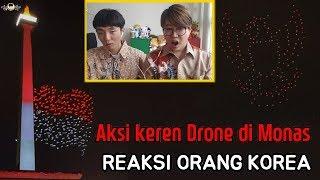 Orang Korea Takjub Menonton Aksi Dron di Monas