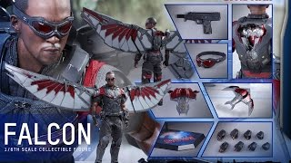 HOT TOYS - FALCON -  CAPTAIN AMERICA CIVIL WAR - MMS 361 - FRENCH REVIEW FRANCAISE